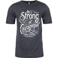 BE STRONG AND COURAGEOUS - T-SHIRT HOMMES - TAILLE S