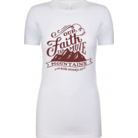 OUR FAITH CAN MOVE MOUNTAINS - T-SHIRT FEMMES - TAILLE L