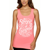 BE STRONG AND COURAGEOUS - DÉBARDEUR FEMMES - TAILLE L