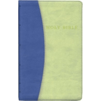 ENGLISCH, BIBLE KJV PERSONAL SIZE BLUE ON GREEN GIANT PRINT REFERENCE - [King James Version]