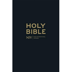 Anglais, Bible NIV Thinline Black Leather Bible TRANCHE OR - [New International Version]