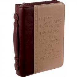 POCHETTE BIBLE, M, FOR I KNOW THE PLANS […] JER 29.11, SABLE - SIMILICUIR