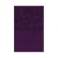 NKJV, Deluxe Gift Bible, Leathersoft, Purple, Red Letter Edition, Comfort Print, silver gild