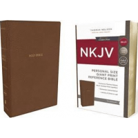 Anglais, Reference Bible, personal size, leathersoft, tan, red letter edition, comfort print